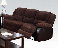 ACME Bernal 50465 CHOCOLATE CORDUROY & ESP PU SOFA W/MOTION