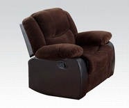 ACME Bernal 50467 CHOCOLATE CORDUROY & ESP PU CHAIR W/MOTION