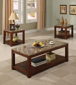 ACME Bologna 16797 3PC PK COFFEE/END TABLE W/FAUX MARBLE