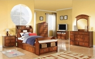 ACME Brandon 11010AT-11015-10014 ANTIQUE-OAK KID BEDROOM SET