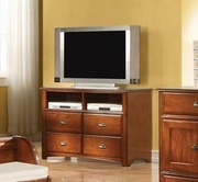 ACME Brandon 11017 ANTIQUE-OAK TV CONSOLE -W/P2