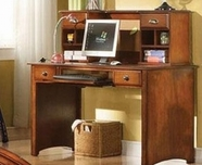 ACME Brandon 11018-11019 ANTIQUE-OAK DESK AND HUTCH