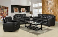 ACME Burnis 50715-50716 2 TONE DARK BROWN TOP GRAIN LEATHER MATCH SOFA SET