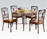 ACME Burril 70584-70586 DINING FAUX MARBLE TABLE SET