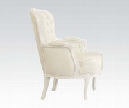 ACME Cain 59147 WHITE FRAME/WHITE PU ACCENT CHAIR