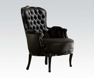 ACME Cain 59148 BLACK FRAME/BLACK PU ACCENT CHAIR