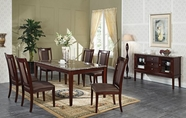 ACME Camelot 70700-70702 BK MARBLE DINING TABLE SET
