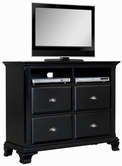 ACME Canterbury 10437 BK TV CONSOLE -W/P2