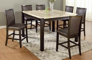 ACME Charissa 70755-70757 MARBLE COUNTER HEIGHT DINING TABLE SET