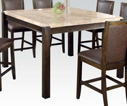 Acme Charissa 70755 Marble C. Height Dining Table