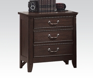 Acme Charleston 3-Drawer Nightstand in Espresso 19593