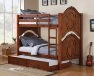 ACME Classique 37005-37008 CHERRY BUNK BED WITH TRUNDLE