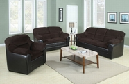 ACME Connell 15975C-15976C CHOCOLATE CORDUROY/ESPRESSO PU LIVING ROOM SET