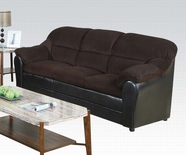 ACME Connell 15975C CHOCOLATE CORDUROY/ESPRESSO PU SOFA