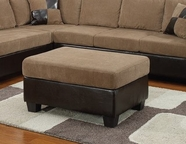 ACME Connell 55947 BROWN CORDUROY/PU OTTOMAN