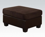 ACME Connell 55977 CHOCOLATE CORDUROY/PU OTTOMAN