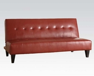ACME Conrad 05856 RED PU BYCAST ADJUSTABLE SOFA