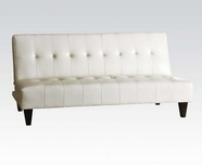 ACME Conrad 05858 WHITE PU BYCAST ADJUSTABLE SOFA
