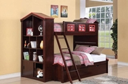 ACME Coyle 37090-37096 TWIN TWIN ESPRESSO BUNKBED WITH TRUNDLE
