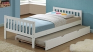 ACME Cutie 37075T-37078 WHITE TWIN BED WITH TRUNDLE