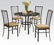 "ACME Darell 70495W 36""DIA BK 5PC PK DINING SET"