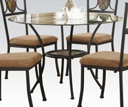 "ACME Desi 70365 DINING TABLE W/1""BEVELED GLASS"
