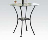 Acme Desi 70370 Counter H. Table W/Rd Glass Top