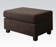 ACME Donovan 50543 STORAGE OTTOMAN (MORGAN FABRIC & 2 PILLOWS)