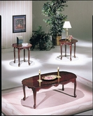 ACME Essex 2402 CHERRY FINISH 3PC PK C/E TABLE SET