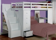 ACME Freya 37145 WHITE LOFTBED W STRG STAIR