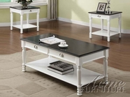 ACME Furniture ACME-18466 Lucas White Finish Coffee/End Table Set