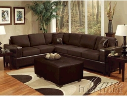 ACME 00107 Ashland Sectional Sofa with Pillows
