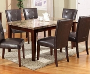 ACME Granada 17042 DINING TABLE W/BROWN MARBLE TOP/WALNUT LEG