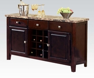 ACME Granada 17050 SERVER-BROWN MARBLE/WALNUT LEG
