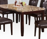 ACME Granada 17063 ARC DINING TABLE W/BROWN MARBLE/WALNUT LEG