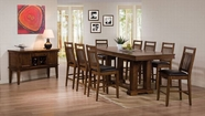 ACME Hadwin 60115-60117 OAK COUNTER HEIGHT TABLE SET