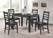 ACME Huy 60215-60217 BLACK DINING TABLE SET