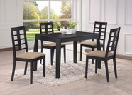 ACME Huy 60215-60218 BLACK DINING TABLE SET