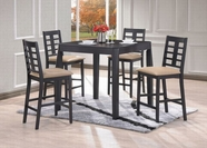 ACME Huy 60220-60222 BLACK COUNTER HEIGHT TABLE SET