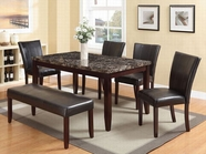 ACME Idris 70520-70522 FAUX MARBLE DINING TABLE SET