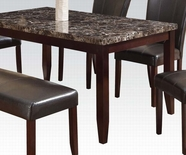 ACME Idris 70520 FAUX MARBLE DINING TABLE