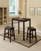 ACME Idris 70540 3PC SET FAUX MARBLE COUNTER HEIGHT DINING SET