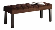 Acme Ion Brown Suede Finish Bench With Padded Seat 96074