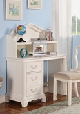 ACME Ira 30152-30153 WHITE DESK AND HUTCH
