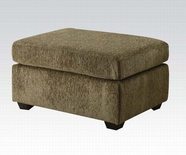 ACME Jensen 50557 TARRAGON OTTOMAN W/STORAGE (MORGAN FABRIC / CHAISE REVERSIBLE)