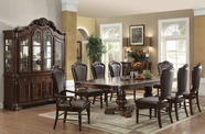 ACME Judith 60370-60373 CHERRY DOUBLE PED DINING TABLE SET