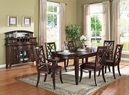 ACME Keenan 60255-60257 WALNUT DINING TABLE SET