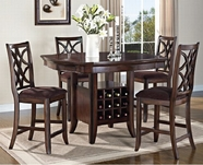 ACME Keenan 60350-60353 WALNUT COUNTER HEIGHT TABLE SET