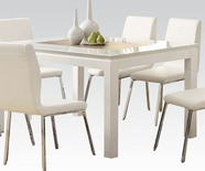 ACME Kilee High Gloss 70990 WH DINING TABLE