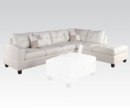 ACME Kiva 51175 WH RFA CHAISE SECT W/2PILLOWS (2CTN)